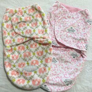 NWOT Bundle of 2 - Velcro Swaddle Blankets